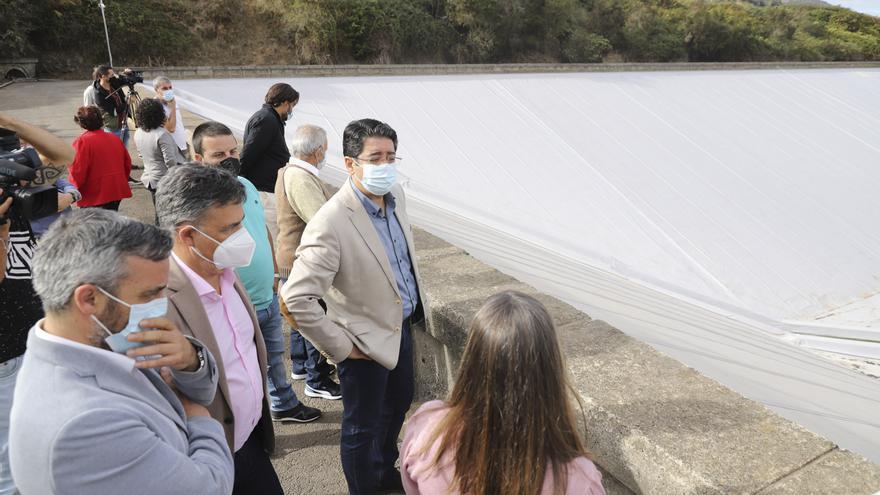 La renovada balsa de Llanos de Mesa garantiza el riego a 420 agricultores