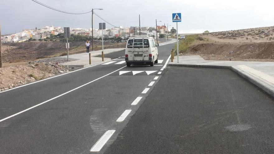 La semana que viene terminan las obras en la carretera de acceso a Los Giles
