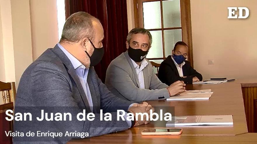 Visita de Enrique Arriaga a San Juan de la Rambla