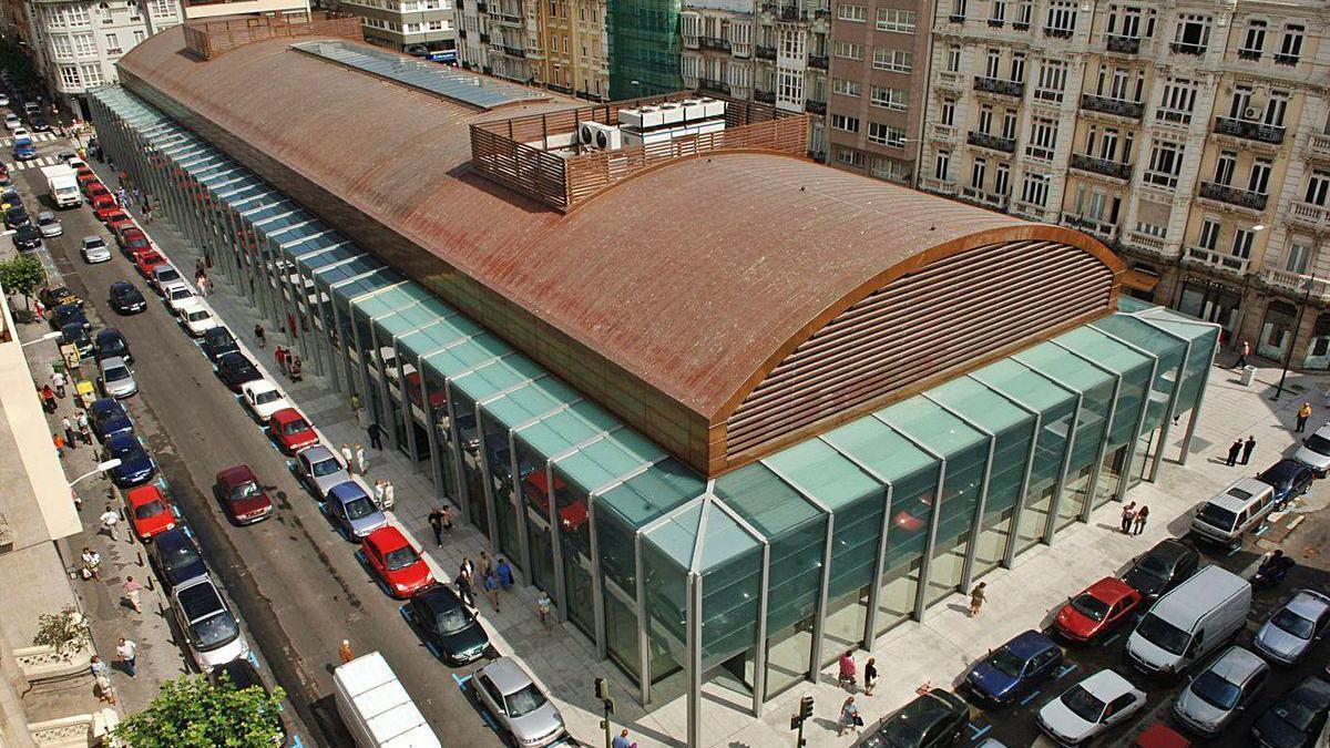 Mercado municipal Eusebio da Guarda, en la plaza de Lugo.
