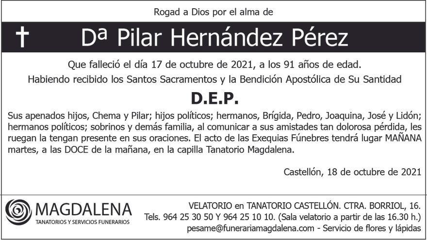 Dª Pilar Hernández Pérez