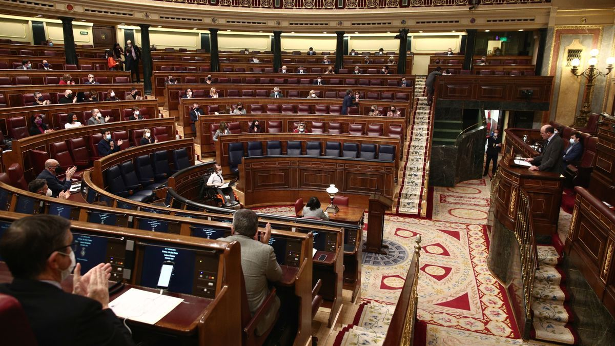 Archive image of the plenary session of the Congress of Deputies