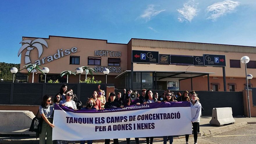 Concentració a la Jonquera per demanar el tancament dels prostíbuls