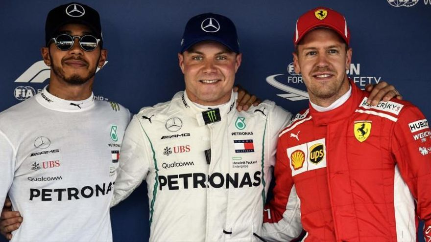 Bottas, 'pole' en Sochi por delante de Hamilton y Vettel