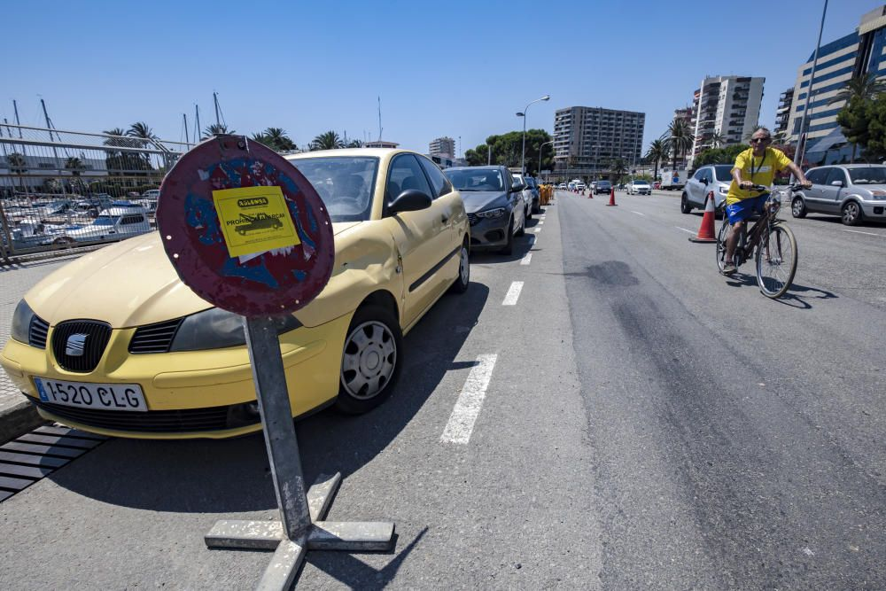 Hier wird mehr Platz für Radfahrer an Palmas Promenade geschaffen