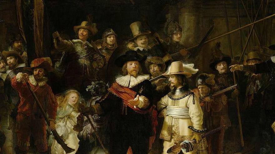Los expertos restaurarán 'La ronda de noche' de Rembrandt ante el público