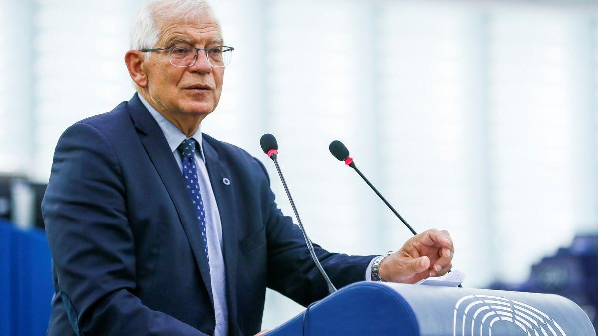 Borrell compadece ante el Parlamento europeo para hablar sobre la situación de Afganistán.