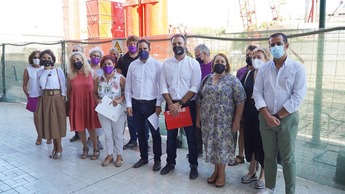 Concejales del PSOE y de Unidas Podemos.