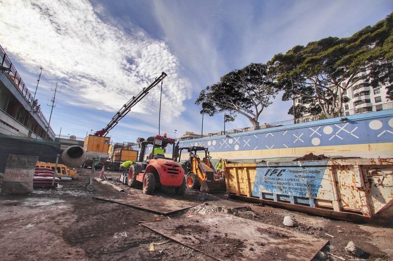 Obras en la estación marítima de Santa Cruz de Tenerife