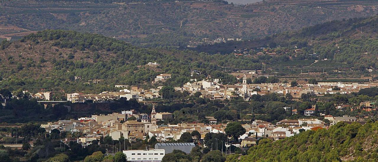 Vista de varios pueblos de La Baronia.   TORTAJADA