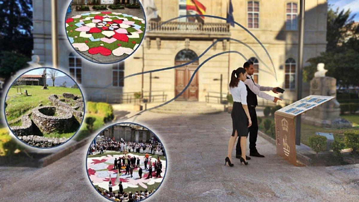Recreación del funcionamiento del Museo interactivo a cielo abierto de Ponteareas. |   // D.P.