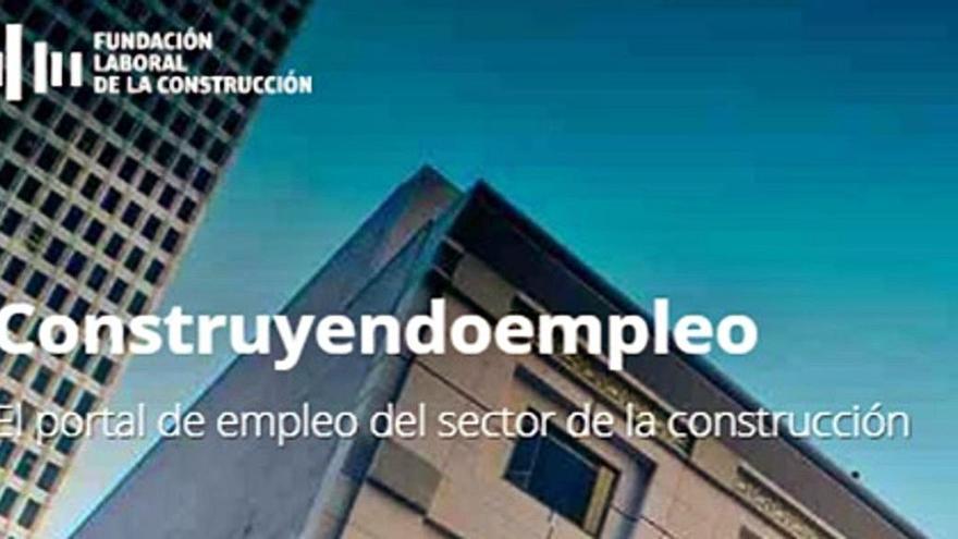 El portal de empleo  de la construcción