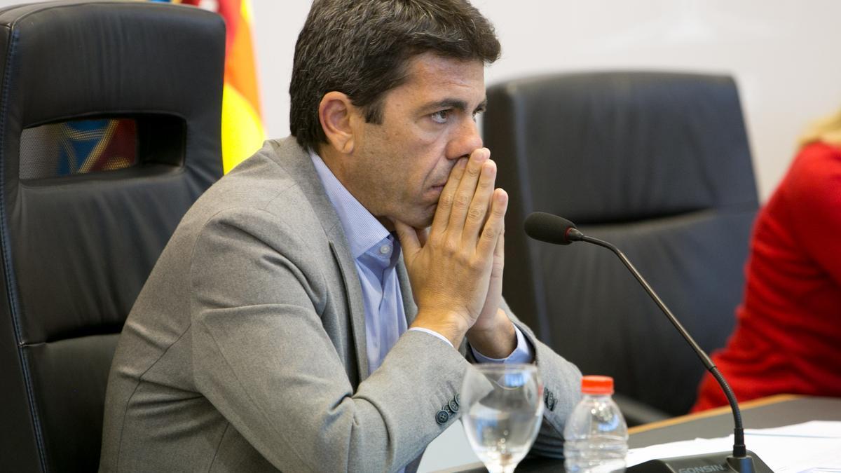 The president of the Alicante Provincial Council, Carlos Mazón.