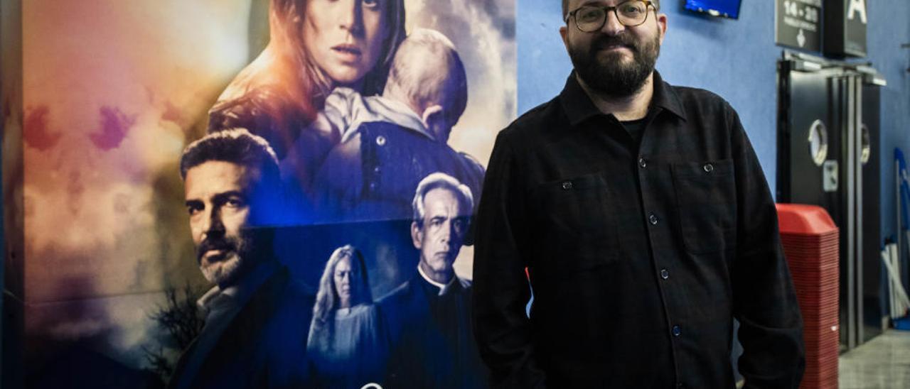 El director de «Legado en los huesos», Fernando González Molina, ayer, en los ABC Park.
