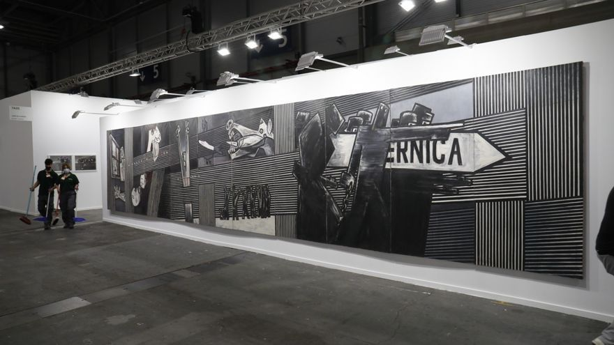 Rescate de un mural de Ibarrola