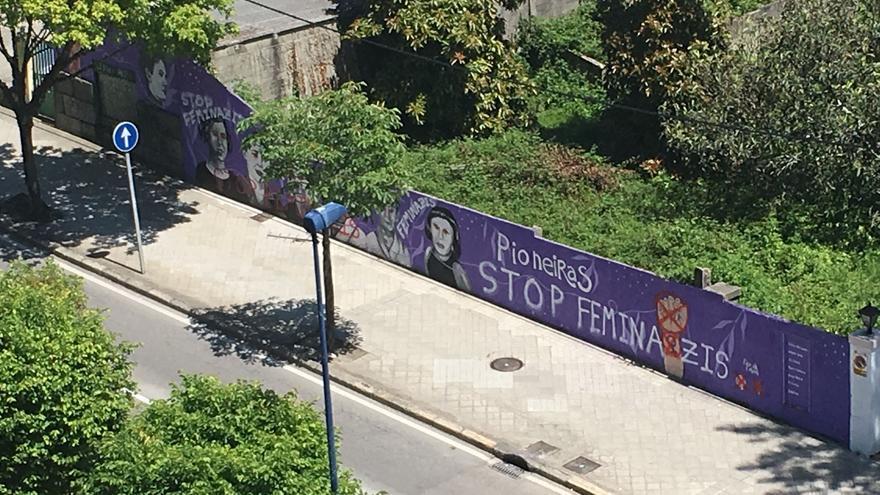 Ataque ao mural feminista da Gran Vía de Vigo
