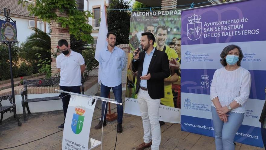 Caluroso recibimiento a Alfonso Pedraza en San Sebastián de los Ballesteros