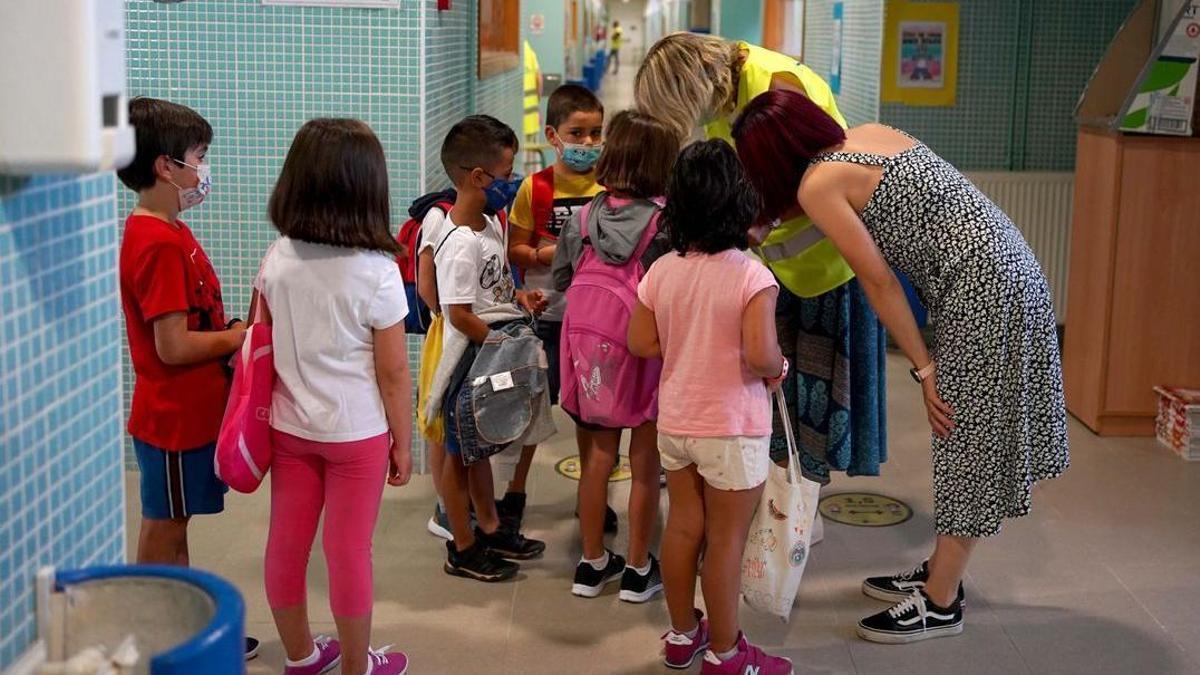 Inicio del curso escolar en el colegio Teresa Berganza de Boadilla del Monte.