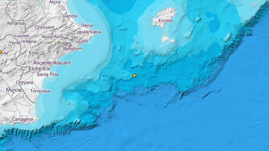La costa de Alicante registra un seísmo de 2,3 de magnitud