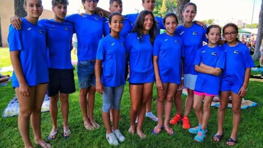 El Natació Xàtiva consigue tres medallas en el VII Trofeo Real Club Natación Delfín
