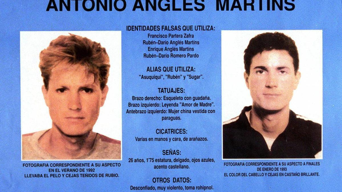 Anglés es el principal sospechoso del secuestro, violación y asesinato de Míriam, Toñi y Desirée.