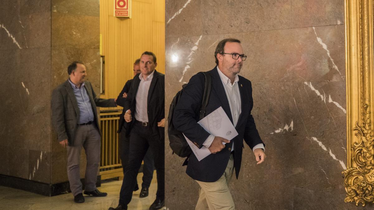 Sainz de Varanda y Cuartero, tras una reunión en el ayuntamiento.