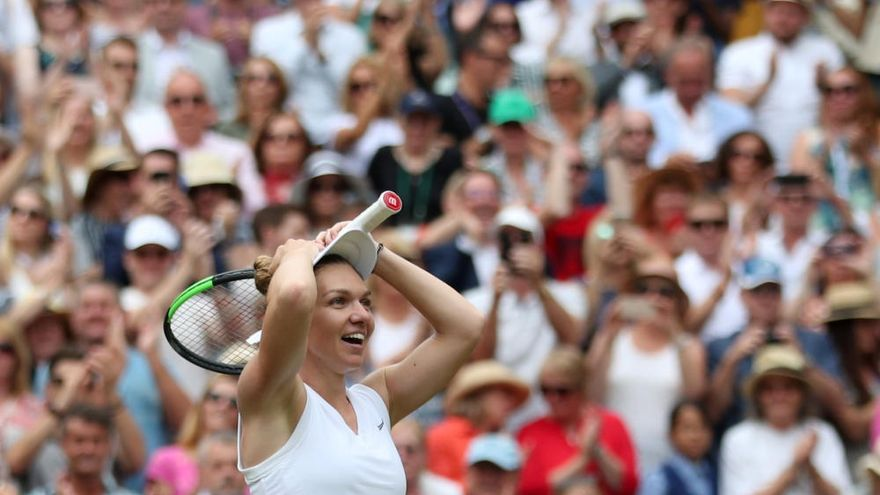 Halep destroza a Williams y conquista Wimbledon