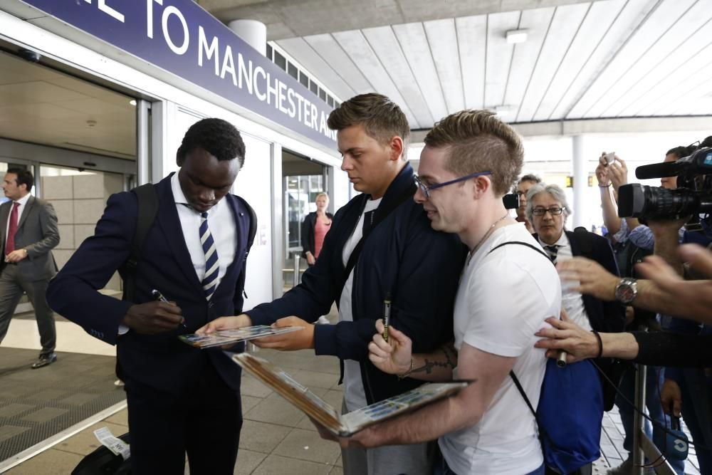 Así fue la llegada del Celta a Manchester