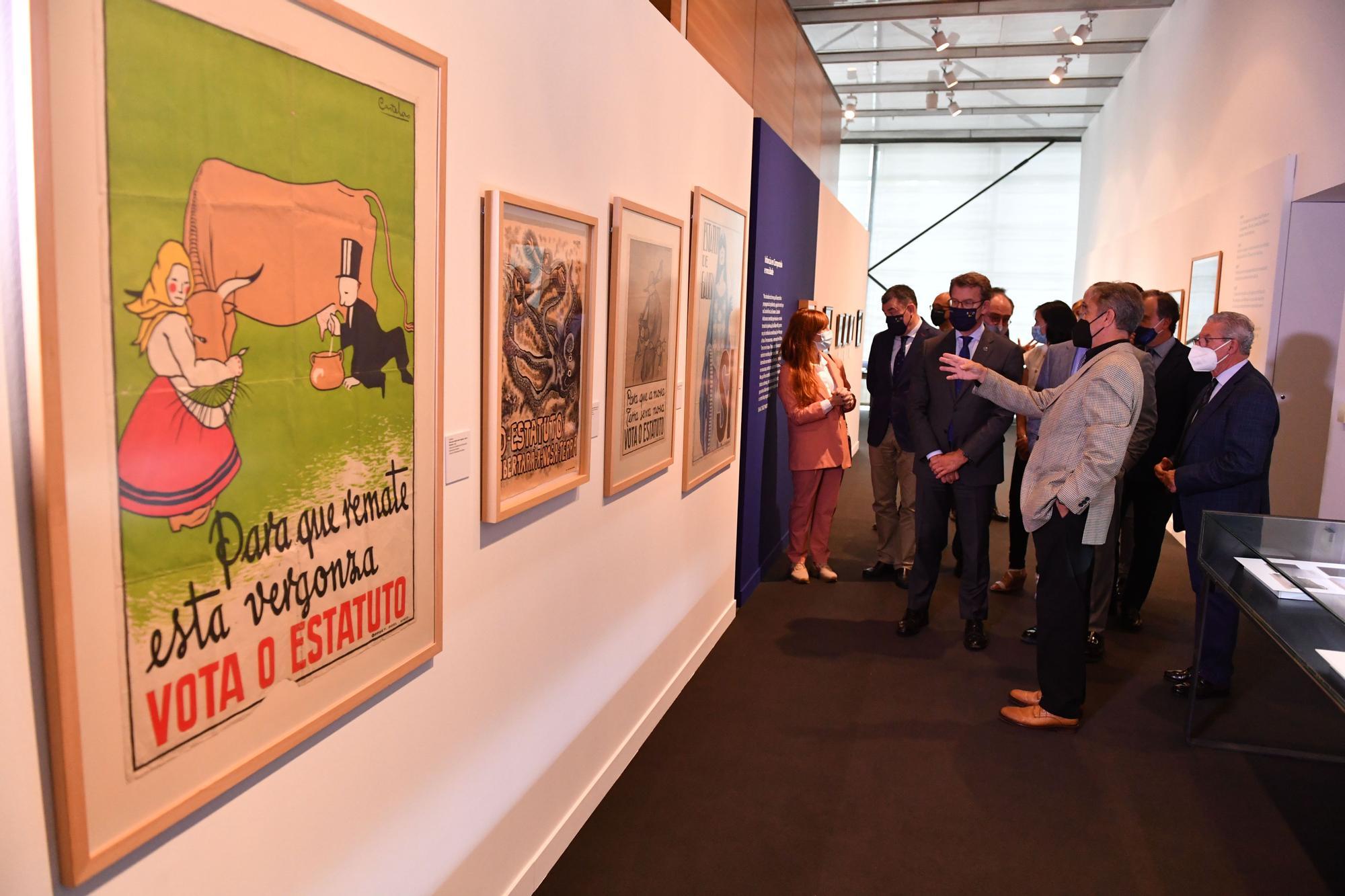 Inauguración de la exposición 'As miradas de Isaac' en la sede de Afundación