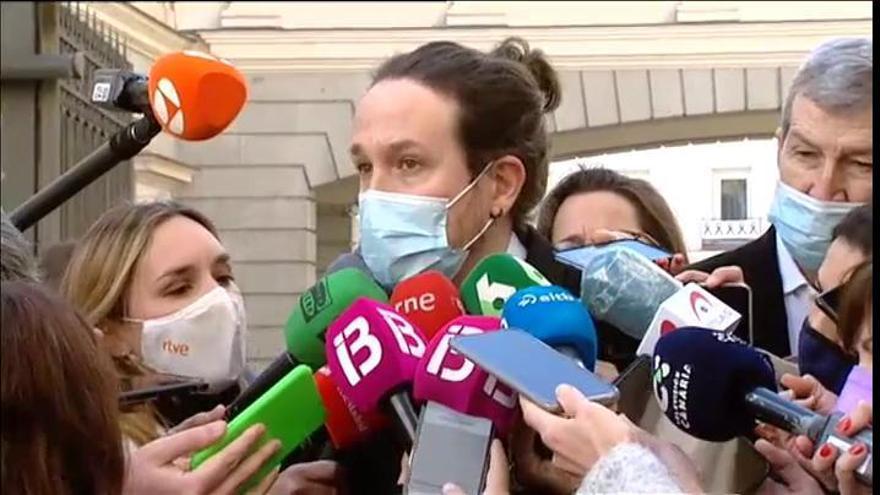 """Iglesias: """"Es un error tensionar el Gobierno planteando que se puede incumplir un acuerdo o traicionar la palabra dada"""""""