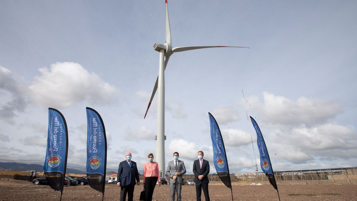El Loro Parque inauguró su aerogenerador en Salinetas (Gran Canaria)