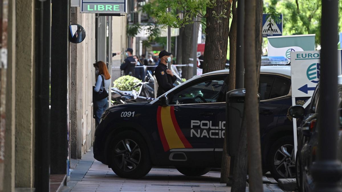 Un coche de la Policía Nacional en Salamanca.