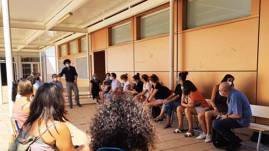 Las lluvias dañan el techo de un colegio de Castelló y obligan a reubicar alumnos en otros centros