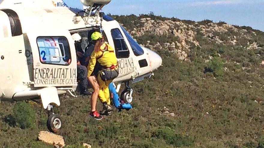 Siete rescates en 7 meses alertan del riesgo del paraje de La Murta para los senderistas