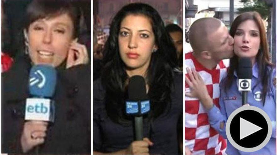 Reporteras que sufrieron gestos machistas