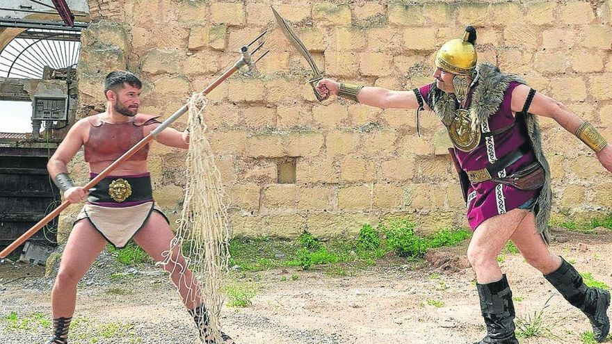 La lucha de gladiadores en el Anfiteatro, la joya de la corona