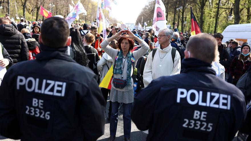 Protestas en Berlín contra las restricciones por el coronavirus