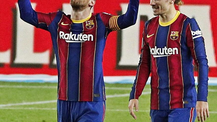 Trincao y Messi dan un cómodo triunfo al Barça