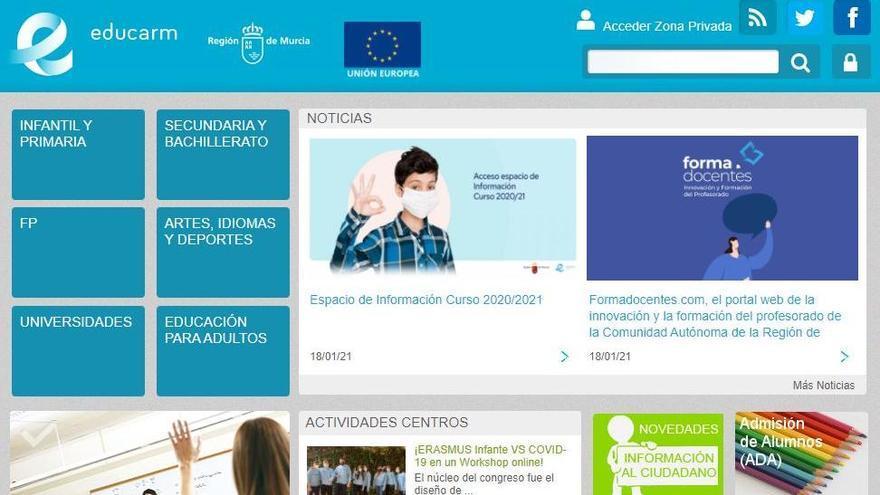 Hackeo en la web de Educación de la Comunidad