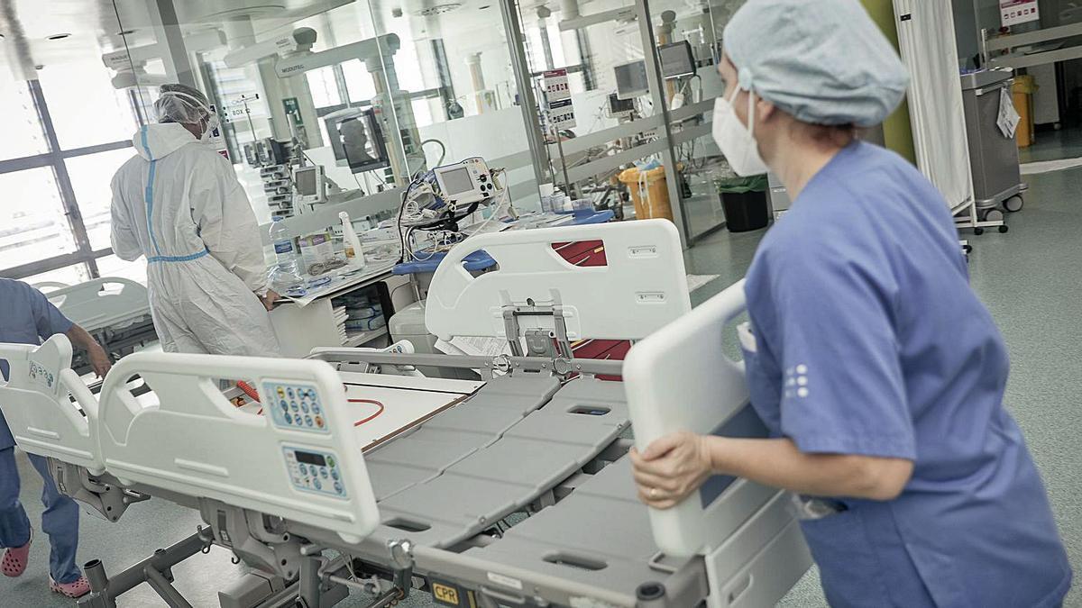 Enfermeras en el Hospital de Son Espases durante la crisis de la covid.