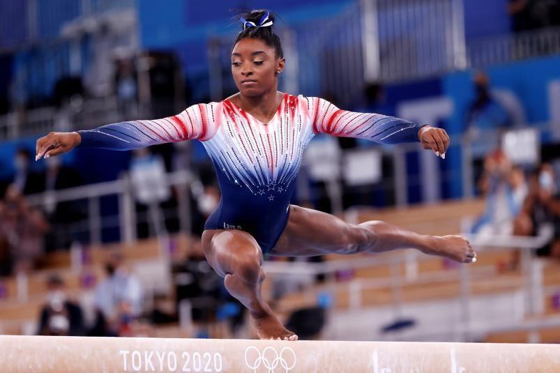 La gimnasta de EEUU Simone Biles, en Tokio.