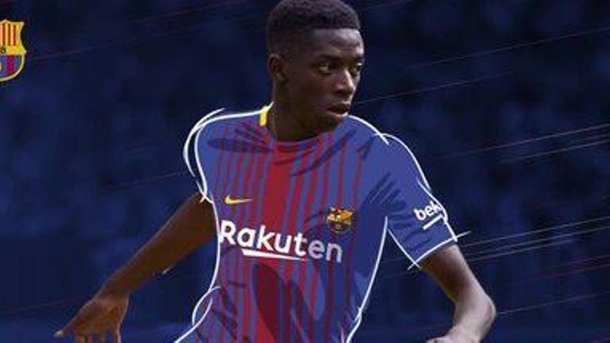 El FC Barcelona fa oficial el fitxatge d'Ousmane Dembélé