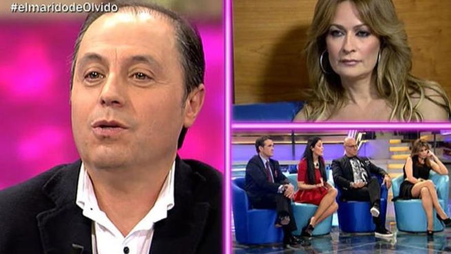 El marido de Olvido Hormigos se suma al circo televisvo en 'Abre los ojos'