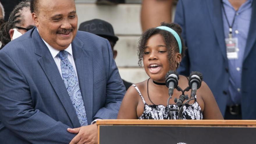 """La nieta de 12 años de Martin Luther King: """"Cumpliremos el sueño de mi abuelo"""""""