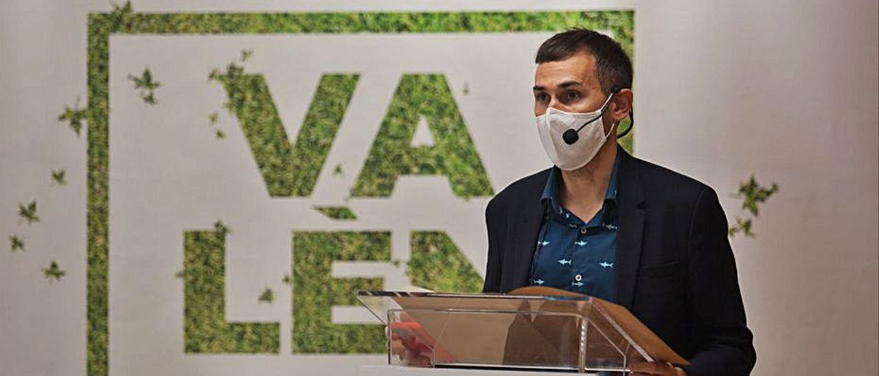 Campillo presentó la candidatura de València.   F.BUSTAMANTE