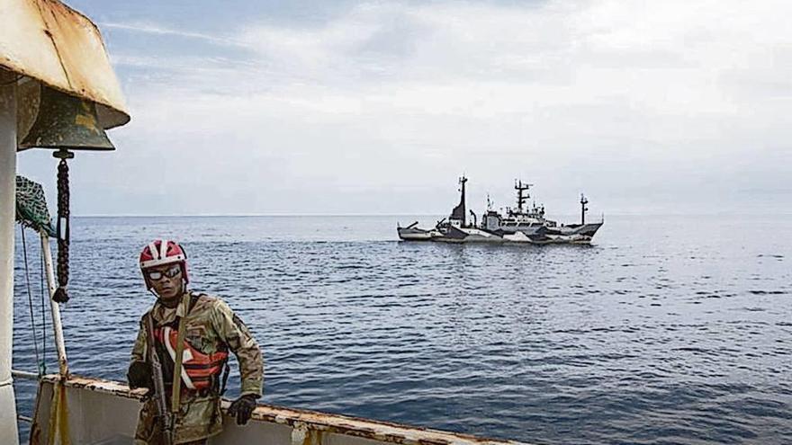 Los palangreros de A Guarda abandonan Liberia por miedo a nuevos abordajes
