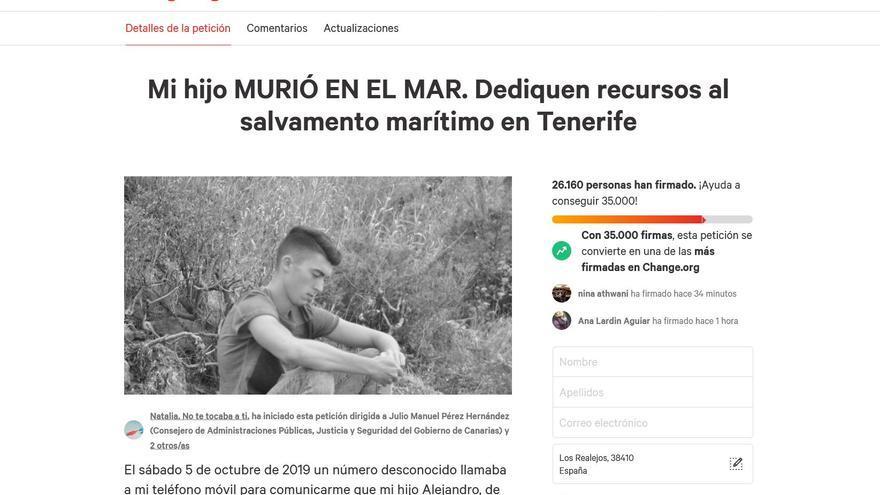 Más de 26.000 personas reclaman un puesto de salvamento marítimo para el norte de Tenerife