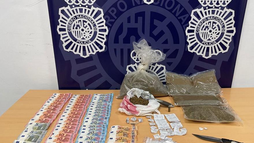 Detenida una pareja de sexagenarios en la Cruz Verde por vender droga
