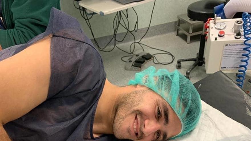 Maxi Gómez se recupera de la fractura de dedo