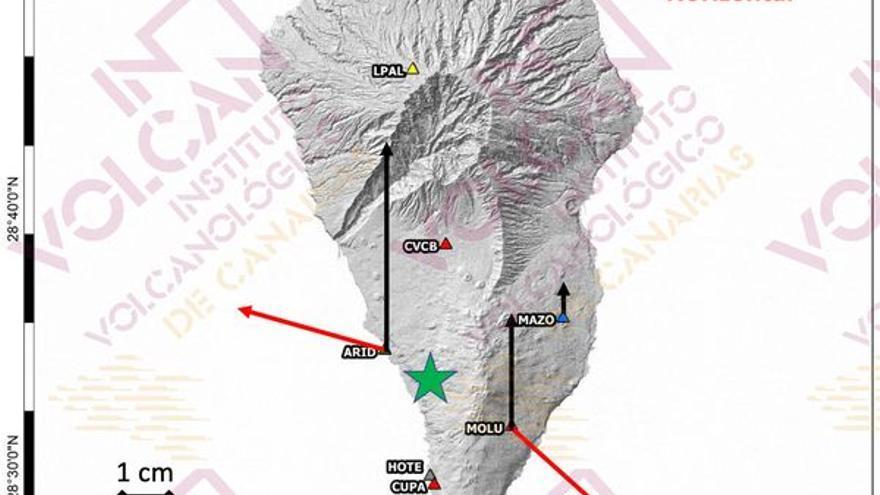 Involcan detecta en La Palma un reservorio de magma de 11 millones de metros cúbicos